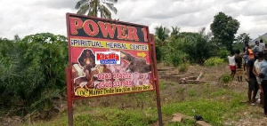 Shrine of the two spiritualists named Power 1 Herbal and Spiritual Center have been raided