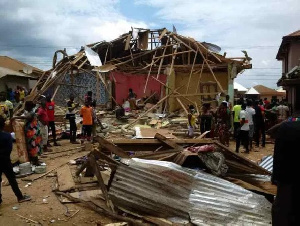 A gas explosion at a store at Denkyira Akwaboso in the Upper Denkyira West District
