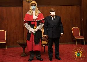 Justice Tanko Amadu with President Akufo-Addo