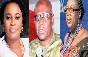 Charlotte Osei, Amadu Sulley and Georgina Opoku Amankwah have been sacked by President Akufo-Addo