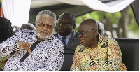 Former President Jerry John Rawlings (L) and President Akufo-Addo (R)