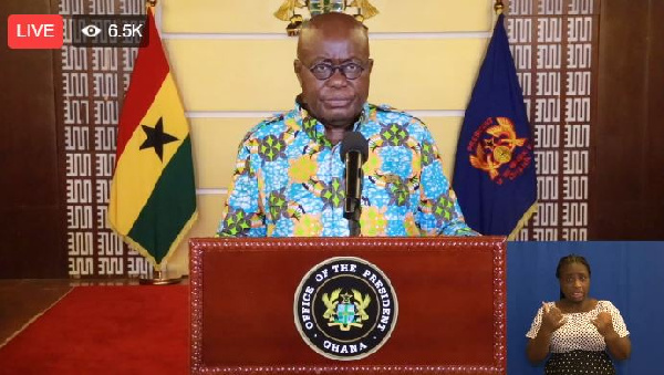 LIVESTREAMED: Akufo-Addo's 22nd address to the nation on measures to fight coronavirus