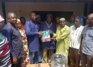 Mr. Tanko Musah has donated campaign materials and furniture to the NDC in Kumbungu