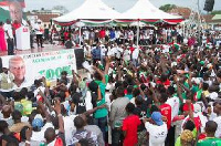 Some NDC supporters at a rally