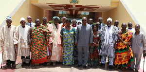 File photo of members of Council of State in a pose with President Mahama
