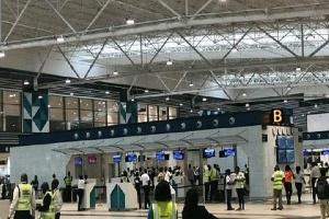 A cross section of the Kotoka International Airport