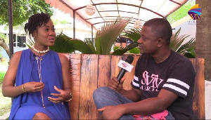 Ghanaian actress, Stacy Mawusi sharing her experience with SVTV Africa