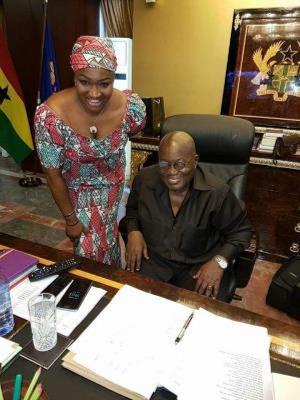 Jannat Bibii with Nana Akufo-Addo
