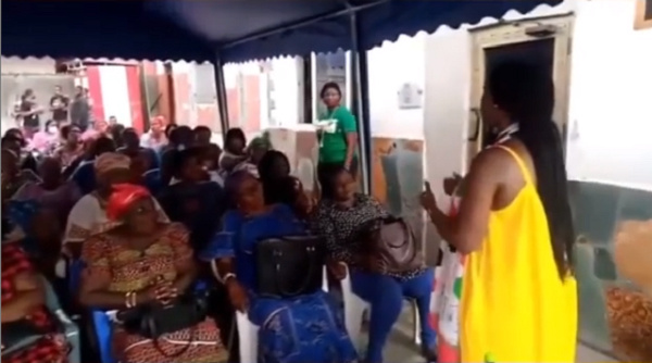 Gifty Mawunya Dumelo interacting with the NDC Women's Wing in Ayawaso West Wuogon