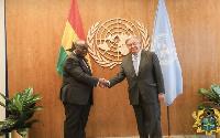 President Akufo-Addo and UN Secretary-General, António Guterres