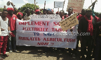 The farmers are angry over the high electricity bills they have to pay for irrigating their farms
