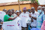 In the first phase of the support, logistics such as branded T-shirts and stickers were donated