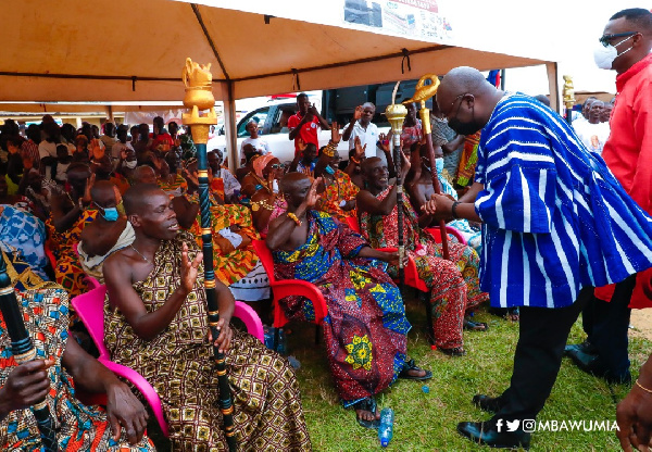 The positive meaningful role the institution of chieftaincy has played in our society is countless