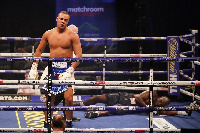 Fabio Wardley kknocked-out Richard Lartey in round 2