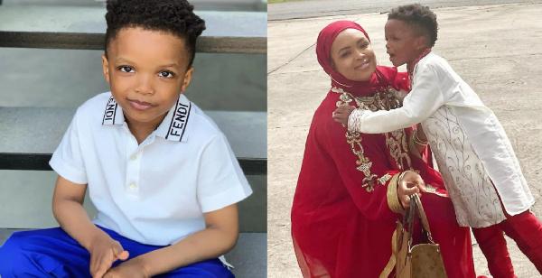 Wizkid's baby mama, Binta Diamond with her son