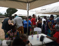 Residents took turns participating in the screening process