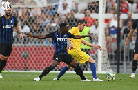 Kwadwo Asamoah featured in Inter Milan's clash with Chelsea in the ICC