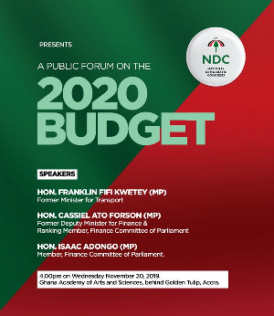 The forum comes a week after the Finance Minister presented the 2020 Budget in Parliament