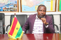 President of the Ghana Armwrestling Federation, Charles Osei Asibey