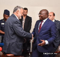 Vice President, Dr Mahamudu Bawumia with Mahmoud Hojjati, Iranian Agric Minister