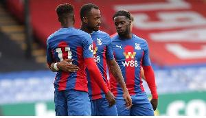 Black Stars striker , Jordan Ayew and his Crystal Palace teammates