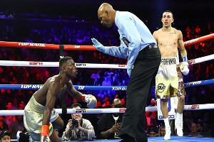 Richard Commey lost the fight to Teofimo Lopez