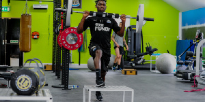 Christian Atsu has been working out at the gym