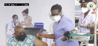 President of Ghana, Nana Addo Dankwa Akufo-Addo took his coronavirus jab today