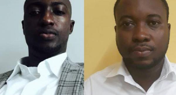 Godfrey Yakuba and Reginald Ashong were arrested for alleged cyber crime