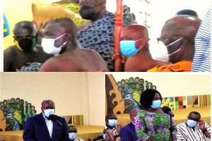 The Asantehene hosted members of the NDC at his palace