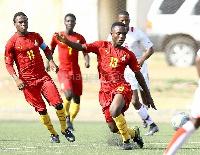 Ghana U17 playing Namibia U20 in a friendly