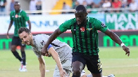 Elvis Manu in action for his side