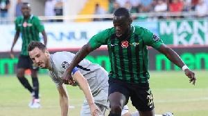 Elvis Manu is the leading scorer for relegation-bound Akhisarspor
