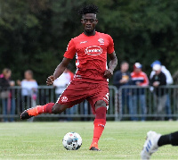 Kassim Adams in action for Fortuna