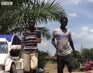 Kwesi and James