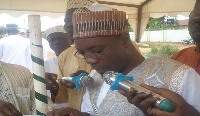 Newly installed Chief Imam of Israel Lomlava, Imam Suraka Swallah Abdul-Rahman Nicher