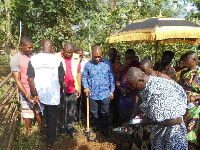 The Member of Parliament was accompanied by the Municipal Chief Executive