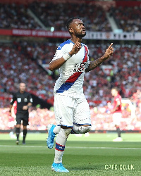 Jordan Ayew scored his debut goal of the season against Manchester United