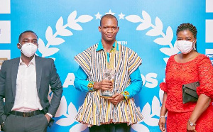 Anthony Apubeo Adongo won the Nestlé 'Special Award for Nutrition' at the GJA Awards