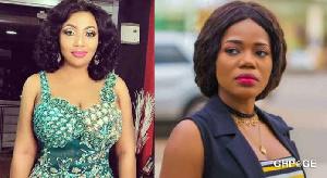 Actress Diamond Appiah and musician Mzbel