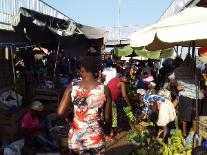 Hundreds have thronged various markets in the capital of Accra to buy among other things, foodstuff
