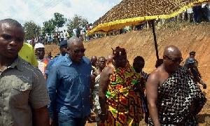 President Mahama and Daasebre Boamah Darko