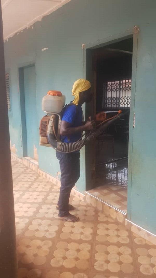 John Kumah disinfects Ejisu Constituency