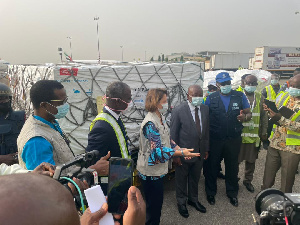 Ghana received the first tranche of coronavirus vaccines a few days ago