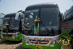 Akufo-Addo presents 100 buses to STC Coaches Limited
