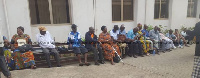 Some of the aggrieved pensioners seated at the Finance Ministry