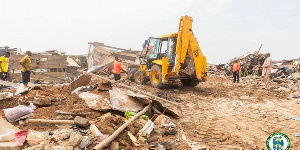The demolition saw the removal of wooden shacks serving as abodes for some squatters