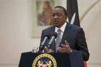 Kenya's President Uhuru Kenyatta has cancelled two high-profile diplomatic events, (PSCU)