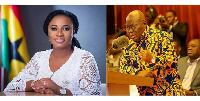 File photo; Madam Charlotte Osei and President Akufo-Addo