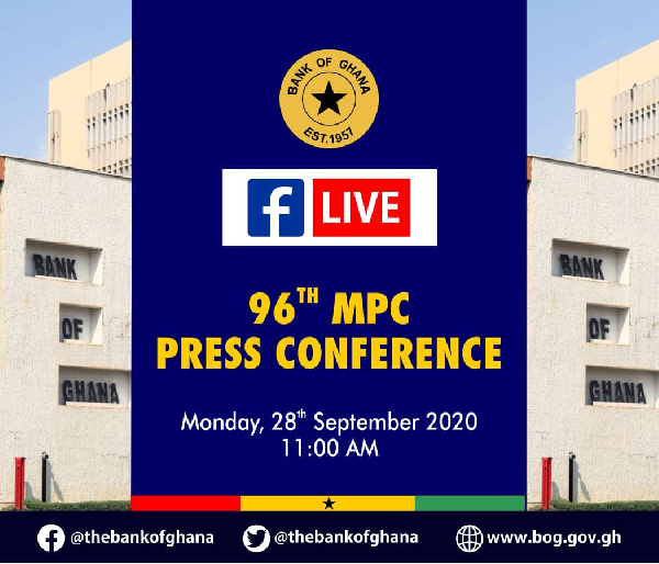 LIVESTREAMING: Bank of Ghana's 96th Monetary Policy Committee meeting